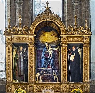 Santa Maria Gloriosa dei Frari - Image: Frari (Venice) Sacristy triptych by Giovanni Bellini