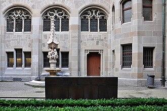 Katharina von Zimmern - Katharina von Zimmern memorial, Fraumünster cloister