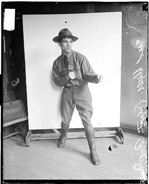 Fred Dyer - Dyer in military uniform during his time at Camp Grant
