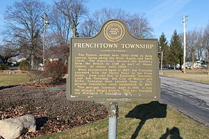 Frenchtown Charter Township, Michigan - Frenchtown Township historical marker