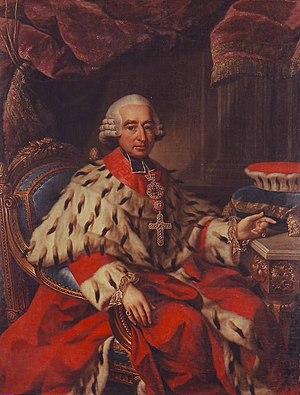 Friedrich Karl Joseph von Erthal - Friedrich Karl Joseph Reichsfreiherr von Erthal, painting by Georg Anton Abraham Urlaub, 1786