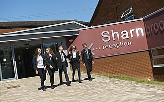 Sharnbrook Academy - Front entrance to Sharnbrook, leading to the reception and Head of House offices.