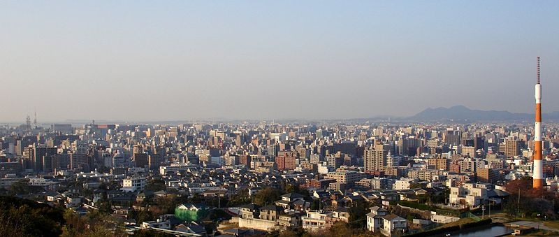 ไฟล์:Fukuoka Viewed From Minamiku Observation Deck.jpg