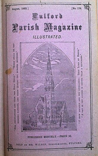 Parish magazine - Fulford (York) parish magazine, August 1882, from a bound annual volume