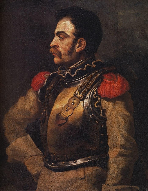Géricault - Portrait de carabinier - Louvre