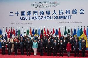 2016 G20 Hangzhou summit - Group photo, on 4 September 2016.