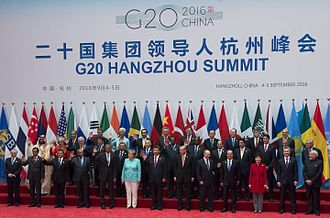 2016 G20 Hangzhou summit - Group photo, on 4 September 2016.