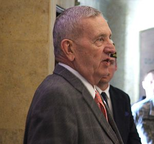 Veterans Memorial Building (Cedar Rapids, Iowa) - GEN Tommy Franks speaking at the Veterans Memorial Building April 15, 2014