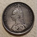 GREAT BRITAIN, VICTORIA 1887 -JUBILEE SIXPENCE b - Flickr - woody1778a.jpg