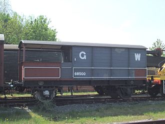 "Brake van - A ""toad"" brake van of the Great Western Railway"