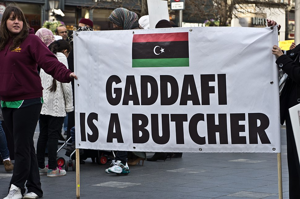 Gaddafi Is a Butcher - Libyan Protest Meeting In Dublin