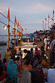 Ganga aarti at Dasaswamedh Ghat, Varanasi.jpg