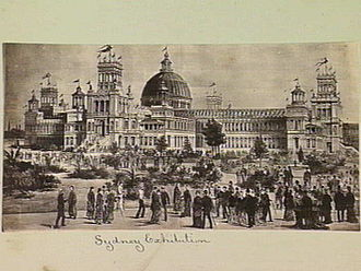 The Domain, Sydney - The International Exhibition of 1879 at the Garden Palace