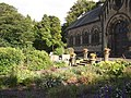 Garden in front of St Mary's Church, Wilshaw, Meltham - geograph.org.uk - 530351.jpg