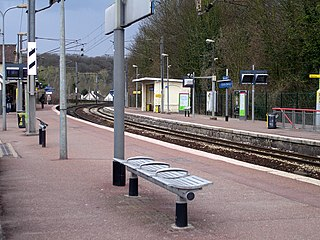 railway station in Ézanville, France