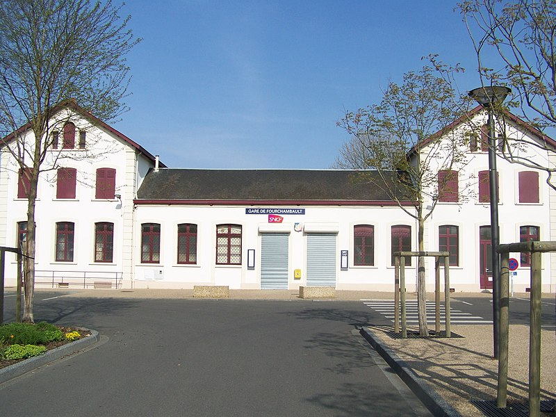 Building of Fourchambault railway station in Nièvre, France.