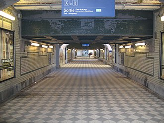 Gare de Colmar - The subterranean passageway allowing access to the platforms