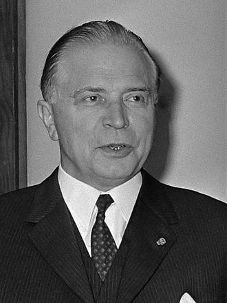 Gaston Eyskens - Eyskens photographed in 1969