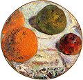 Gauguin Tambourin décoré de fruits.jpg