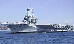 The Charles De Gaulle nuclear-powered aircraft carrier
