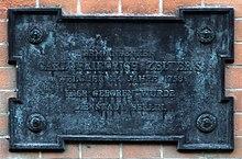 Gedenktafel am Geburtshaus, Münzstraße 23 in Berlin-Mitte (Quelle: Wikimedia)