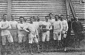 Gefle IF - The Gefle IF team of 1902 with Robert Carrick holding the Rosenska Pokalen-trophy.