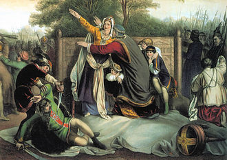 Helena of Serbia, Queen of Hungary - Execution of Hungarian nobility in Arad, by Geiger Péter N. János (1805–1880).