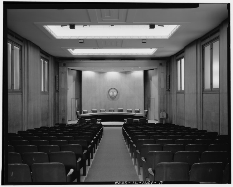 file general view board room view to east chicago park district administration building 425. Black Bedroom Furniture Sets. Home Design Ideas