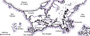 Genertela - Map of Genertela by Christophe Dang Ngoc Chan