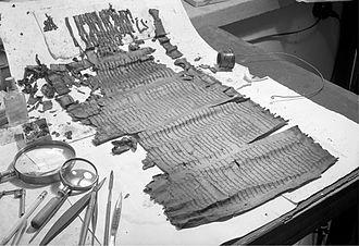 Noah - Genesis Apocryphon, a portion of the Dead Sea Scrolls that features Noah.