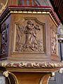 Gennes-sur-Seiche (35) Église Saint-Sulpice Intérieur Chaire 05.jpg