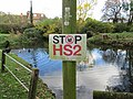 Geograph-4267224-Stop HS2 sign next to the duck pond, Little Missenden.jpg