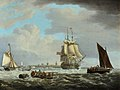 George Webster (1797-1864) - A Two-Decker Leaving Portsmouth - BHC1922 - Royal Museums Greenwich.jpg