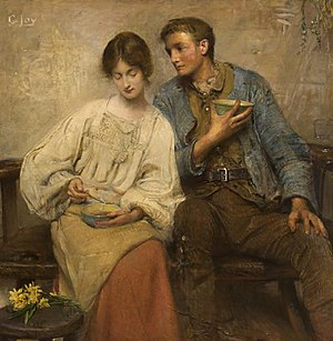 George W. Joy - Image: George William Joy A dinner of herbs