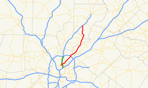 Georgia State Route 141 - Image: Georgia state route 141 map
