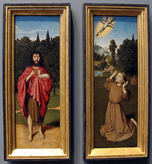 Saint John the Baptist; Saint Francis Receiving the Stigmata
