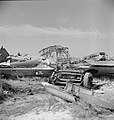 German aircraft wrecks1 El Aouiana May1943.jpg