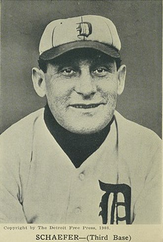 Germany Schaefer - Schaefer in 1908 with Detroit