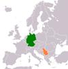 Lage von Deutschland und Serbien
