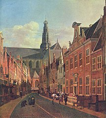 The Grote Kerk at Haarlem, Seen from the Jansstraat