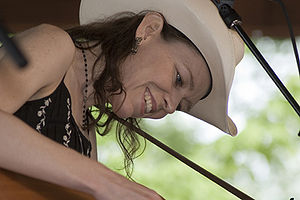 Gillian Welch at Merlfest, Wilkesboro, NC, Apr...