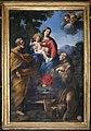 Giovan francesco romanelli, sacra famiglia e san bernardino, 01.jpg