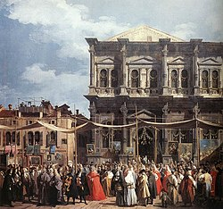Giovanni Antonio Canal, il Canaletto - The Feast Day of St Roch (detail) - WGA03906.jpg