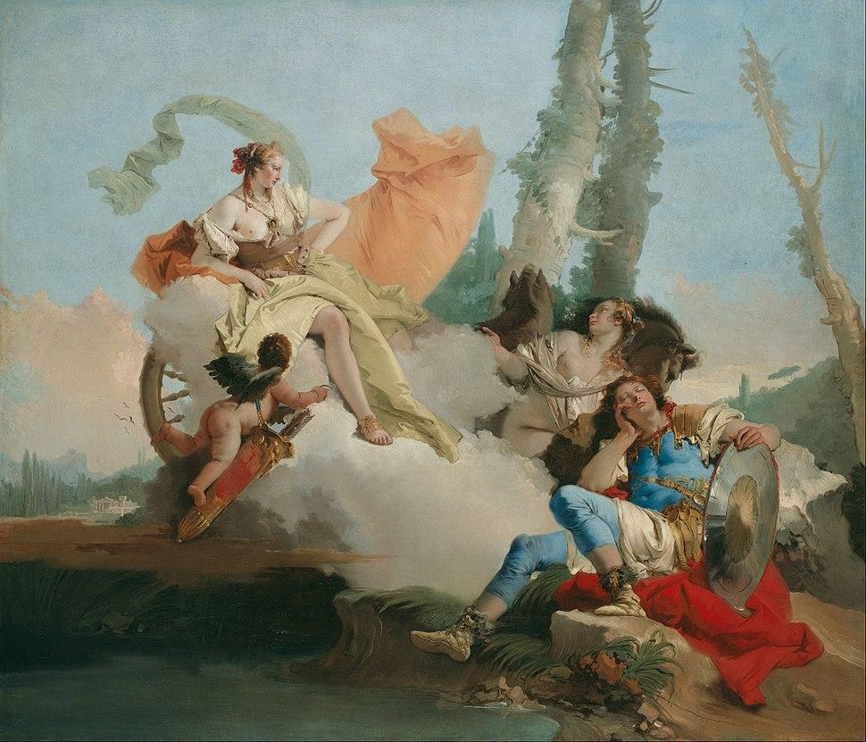 Giovanni Battista Tiepolo - Rinaldo Enchanted by Armida - Google Art Project