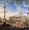 Giovanni Paolo Pannini - The Piazza and Church of Santa Maria Maggiore - WGA16974.jpg