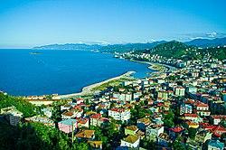 Generell utsikt over den østlige delen av Giresun by