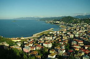 General view of eastern part of Giresun city