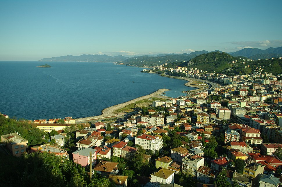 General view of eastern part of Giresun city