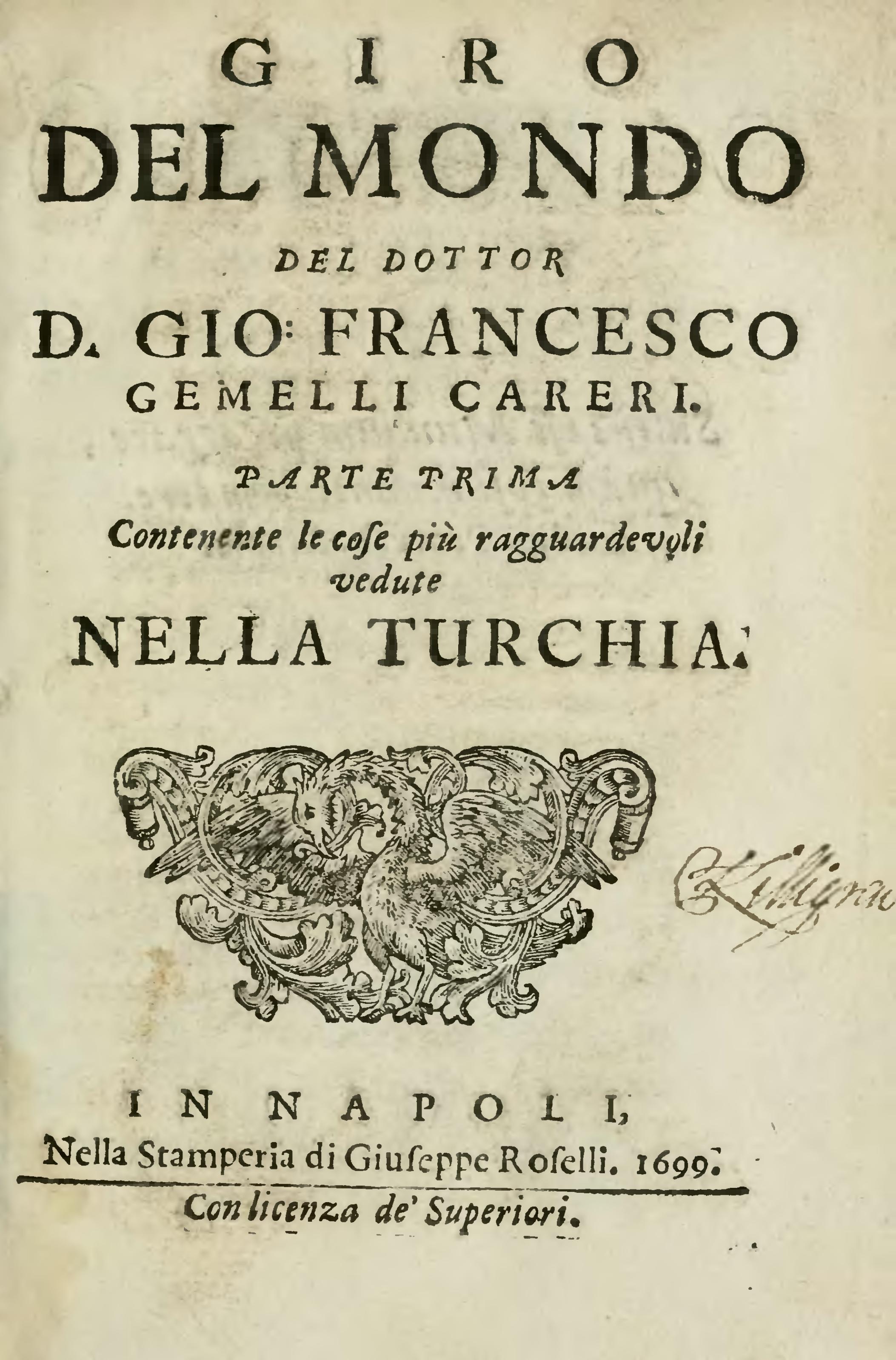 Pagina giro del mondo del dottor d gio francesco gemelli - Gemelli diversi un altro ballo testo ...