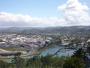 Central and northeastern Gisborne viewed from Kaiti Hill